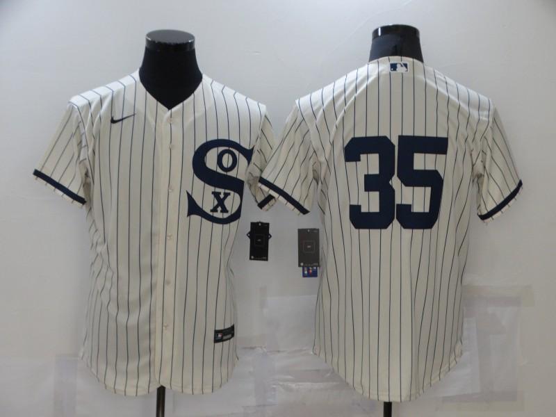 White Sox 35 Frank Thomas Cream Nike 2021 Field Of Dreams Player Flexbase Jersey