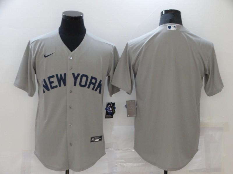 Yankees 99 Blank Gray Nike 2021 Field Of Dreams Cool Base Jersey