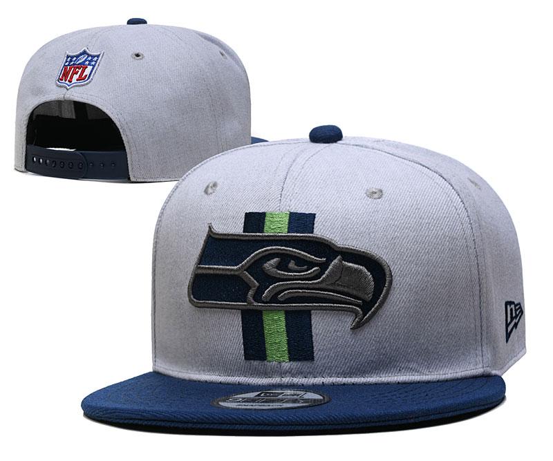 Seahawks Team Logo Gray Adjustable Hat YD