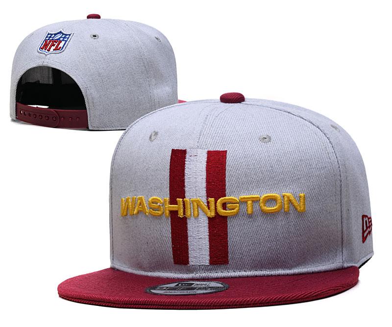 Washington Football Team Logo Gray Adjustable Hat YD
