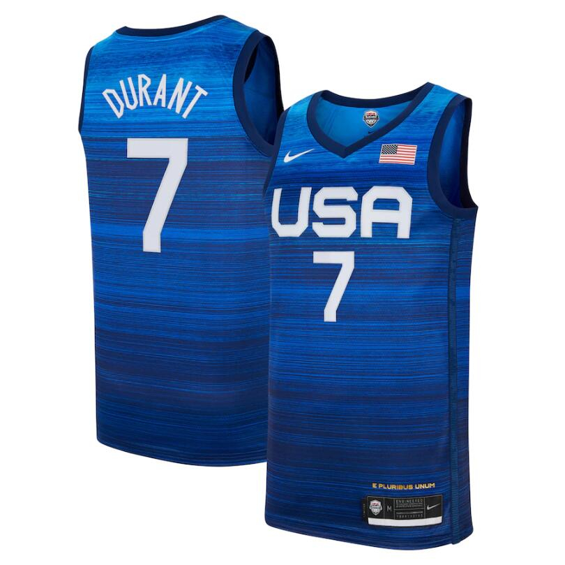 Team USA 7 Durant Navy 2021 Olympics Basketball Swingman Jersey