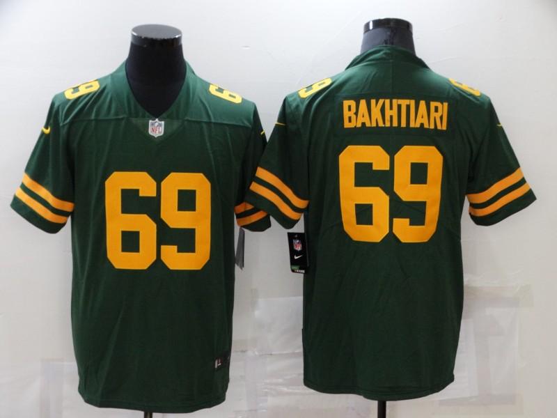 Nike Packers 69 David Bakhtiari Green New Vapor Untouchable Limited Jersey