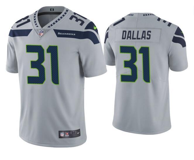 Nike Seahawks 31 Deejay Dallas Gray Vapor Untouchable Limited Jersey