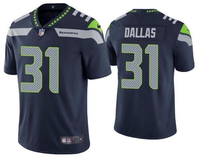 Nike Seahawks 31 Deejay Dallas Navy Vapor Untouchable Limited Jersey
