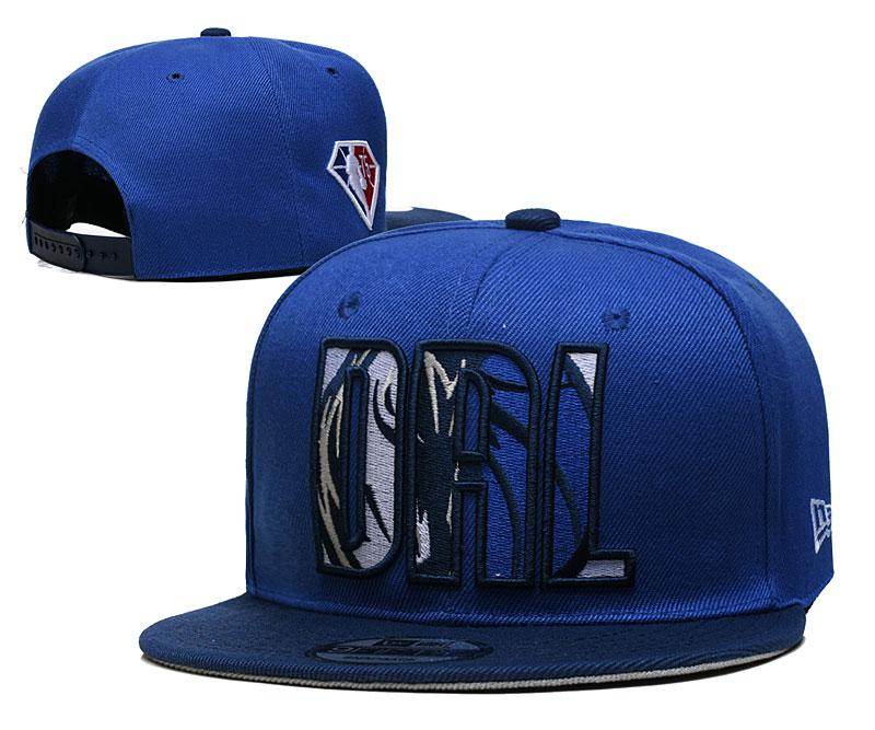 Mavericks Team Logo New Era Blue 2021 NBA Draft Adjustable Hat YD