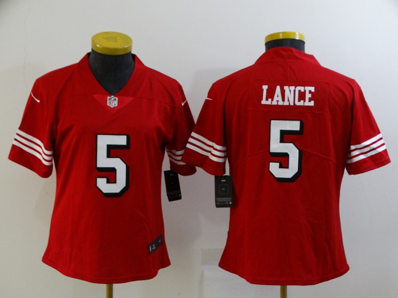 Chiefs 5 Trey Lance Red Women Color Rush Vapor Untouchable Limited Jersey
