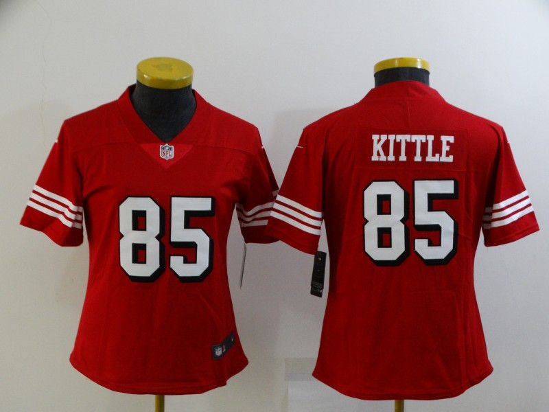 Chiefs 85 George Kittle Red Women Color Rush Vapor Untouchable Limited Jersey
