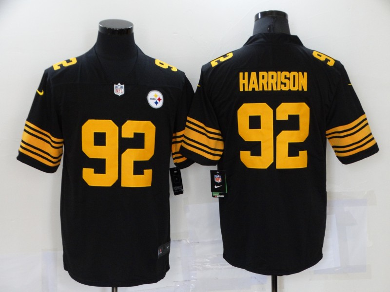 Nike Steelers 92 James Harrison Black Color Rush Limited Jersey