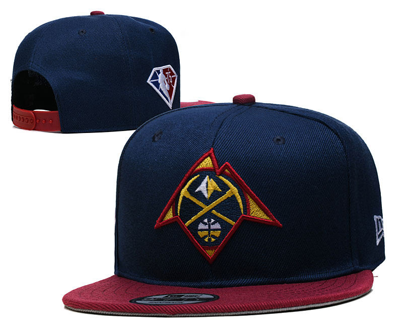 Nuggets Team Logo New Era Nay Red 2021 NBA Draft Adjustable Hat YD