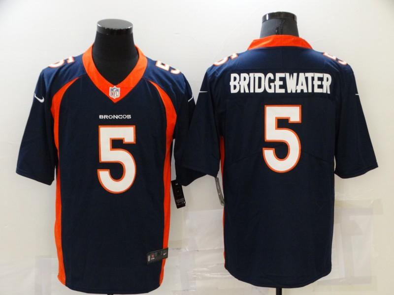Nike Broncos 5 Teddy Bridgewater Navy Vapor Untouchable Limited Jersey