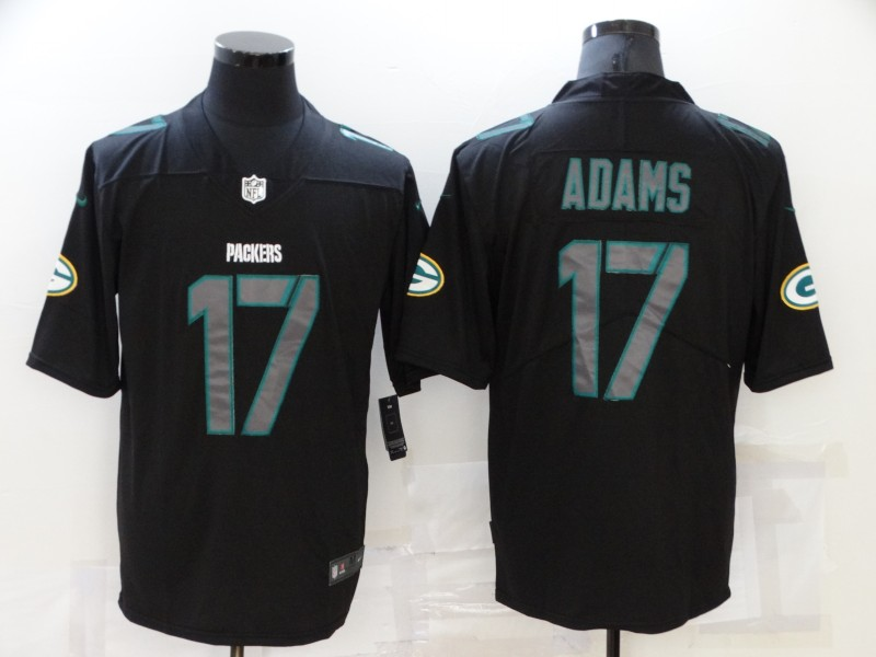 Nike Packers 17 Davante Adams Black Impact Vapor Limited Jersey