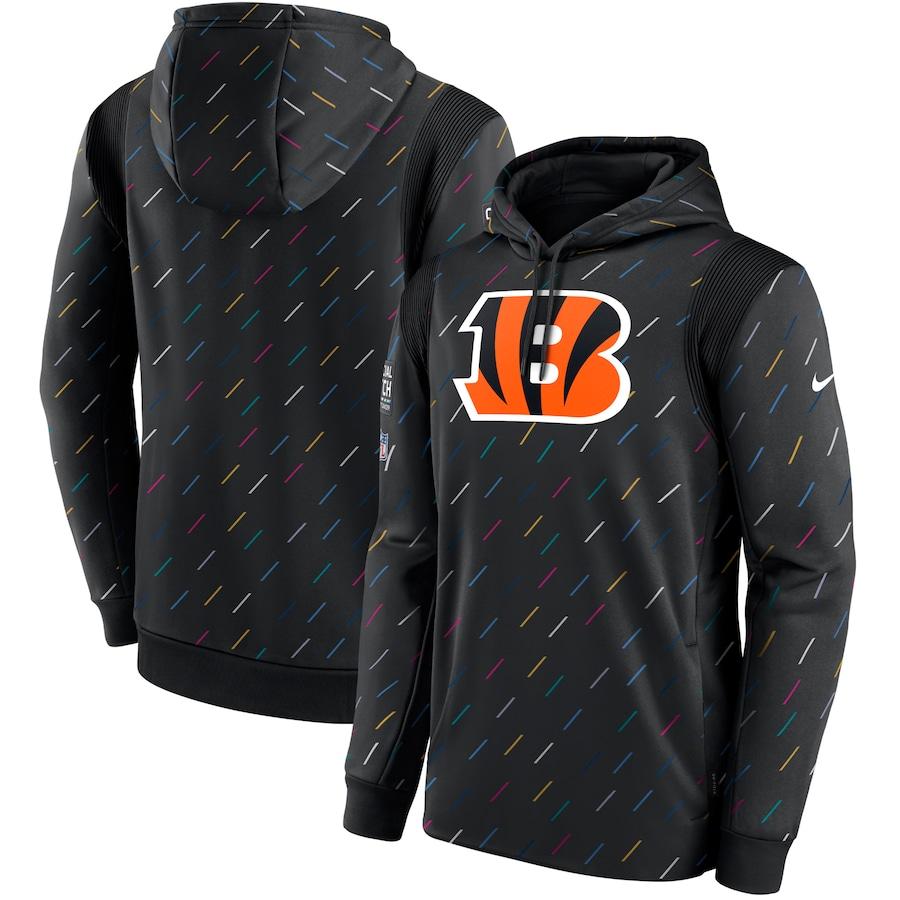Men's Cincinnati Bengals Nike Charcoal 2021 NFL Crucial Catch Therma Pullover Hoodie