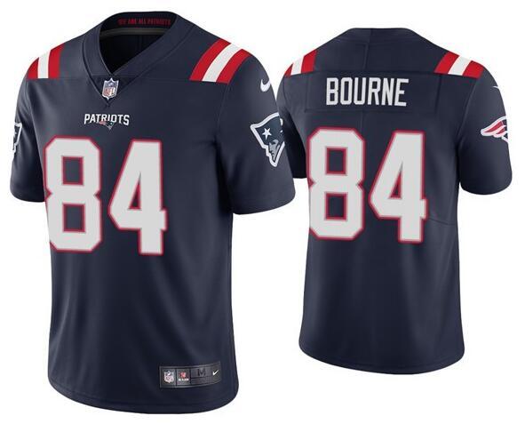 Nike Patriots 84 Kendrick Bourne Navy Vapor Untouchable Limited Jersey