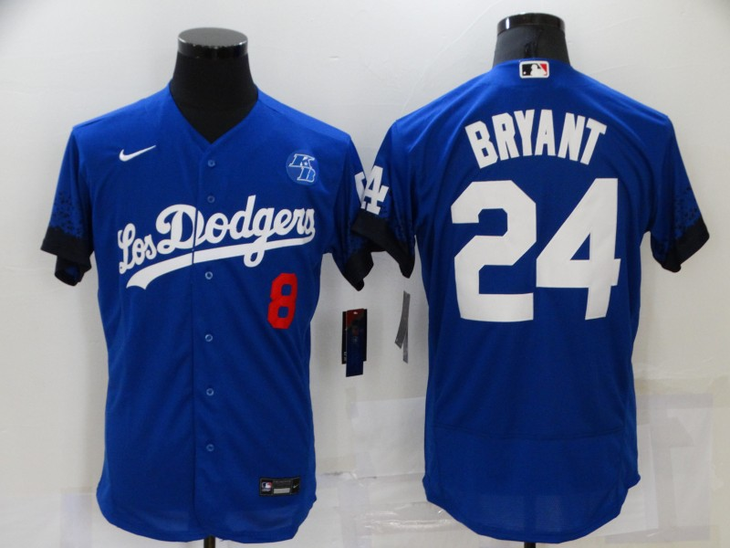 Dodgers 8 & 24 Kobe Bryant Royal 2021 City Connect Flexbase Jersey