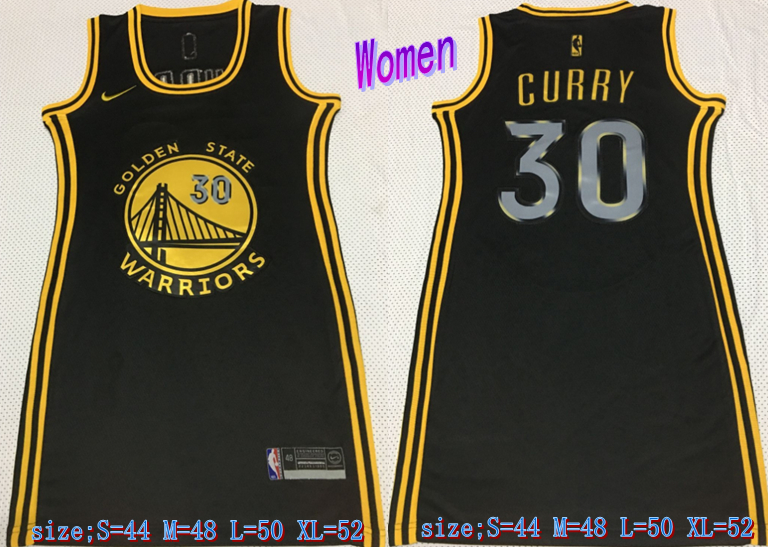 Warriors 30 Stephen Curry Black Women Nike Swingman Jersey