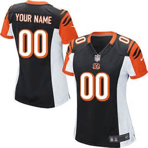 Nike Bengals Black Customized Women Game Jersey