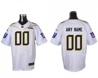 Nike New York Giants White 2016 Pro Bowl Customized Elite Jersey