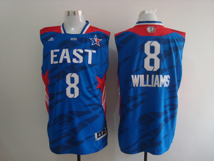2013 All Star East 8 Williams Blue Jerseys
