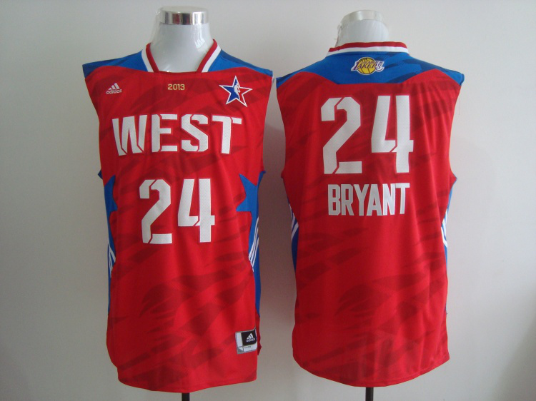 2013 All Star West 24 Bryant Red Jerseys