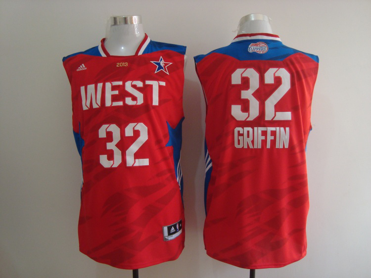 2013 All Star West 32 Griffin Red Jerseys