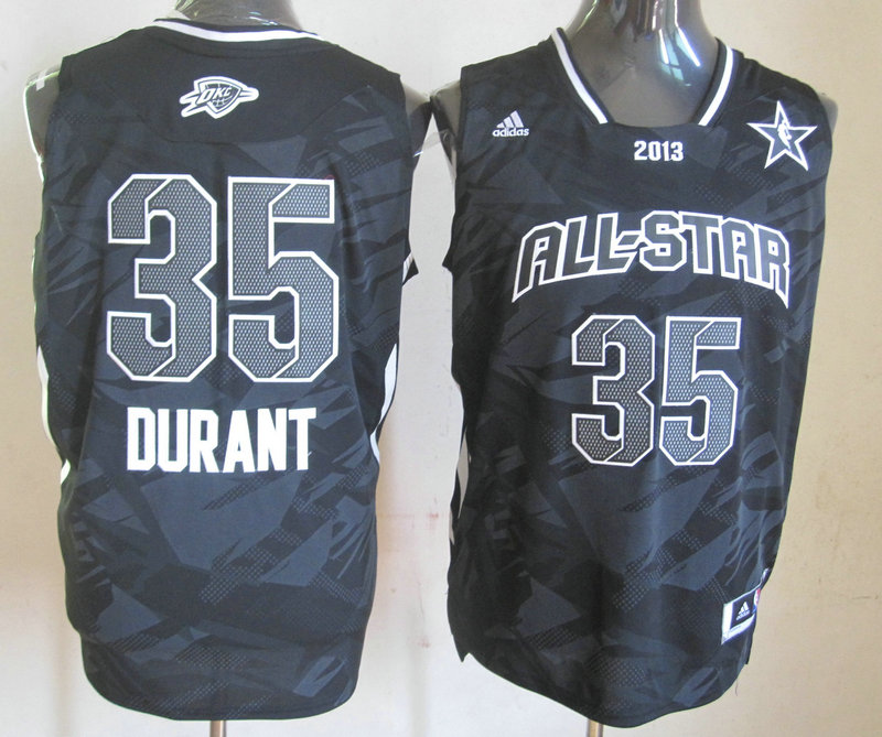 2013 All Star West 35 Durant Black Jerseys