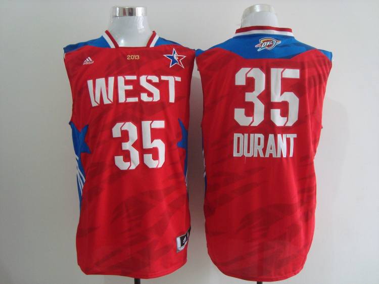 2013 All Star West 35 Durant Red Jerseys