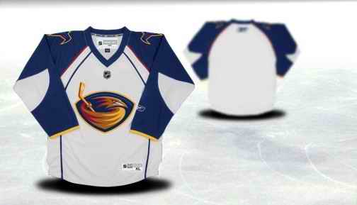 Atlanta Thrashers Youth Customized White Jersey