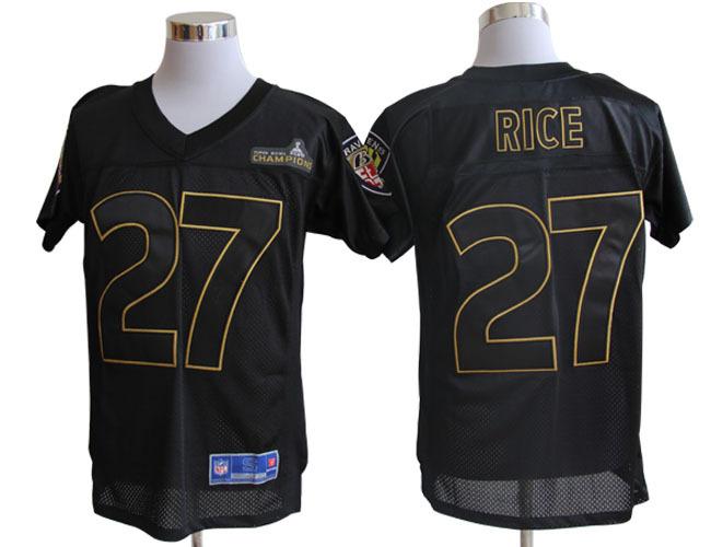 Baltimore Ravens Pro Line 27 Rice Super Bowl XLVII Champions Jerseys