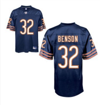 Bears 32 Cedric Benson Blue Jerseys
