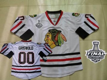 Blackhawks 00 Clark Griswold White Ccm Throwback With 2013 Stanley Cup Finals Jerseys