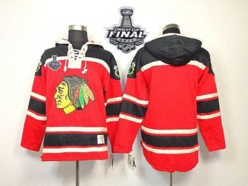 Blackhawks Blank Red Sawyer Hooded Sweatshirt With 2013 Stanley Cup Finals Jerseys