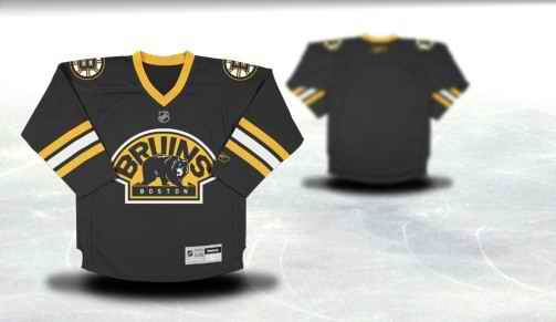 Boston Bruins Youth Customized Black Third Jersey