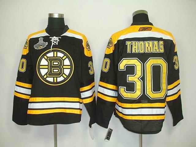 Bruin 30 Thomas Black Champions Jerseys