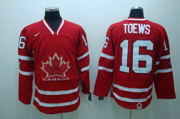 Canada 16 Toews Red Jerseys
