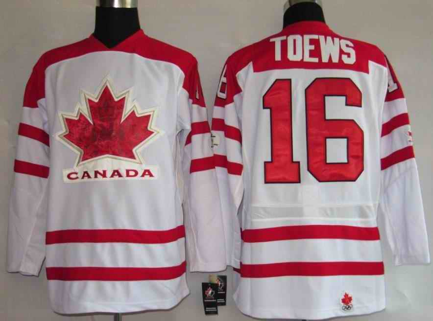 Canada 16 Toews White Jerseys