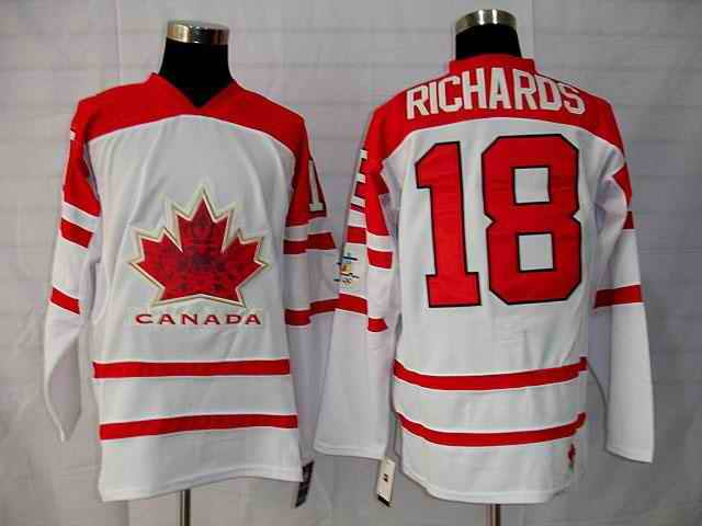Canada 18 Richard White Jerseys