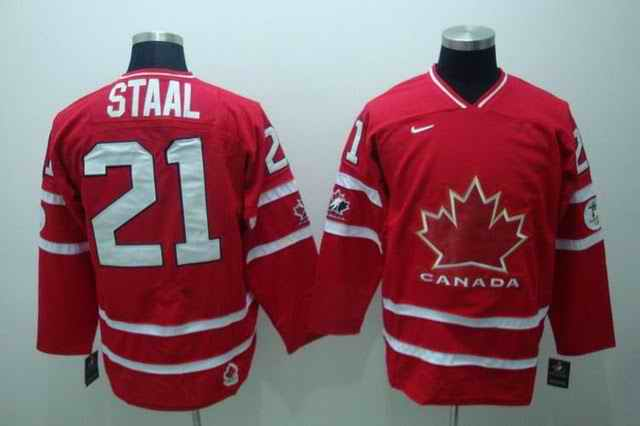 Canada 21 Staal Red Jerseys