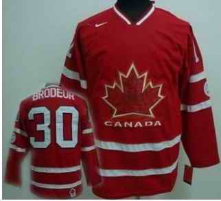 Canada 30 Brodeur Red Jerseys