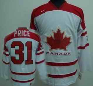Canada 31 PRICE White Jerseys