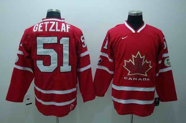 Canada 51 Getzlaf Red Jerseys