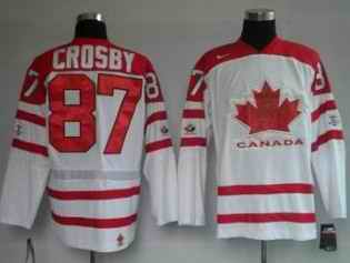 Canada 87 CROSBY White Jerseys