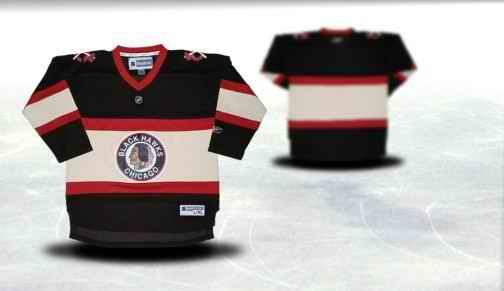Chicago Blackhawks Youth Customized Black Third Jersey