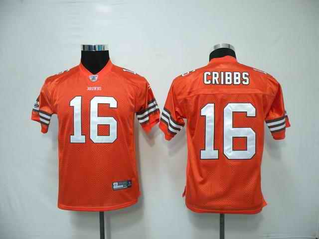 Cleveland Browns Youth Customized orange Jersey
