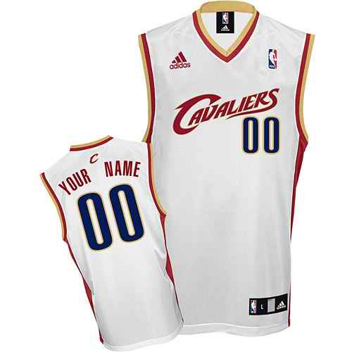Cleveland Cavaliers Youth Custom white Home Jersey