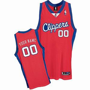 Clippers 00 Blank Red jerseys