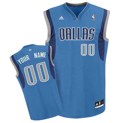 Dallas Mavericks Youth Custom Lt blue Jersey
