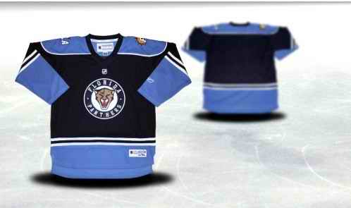 Florida Panthers Youth Customized Blue Third Jersey
