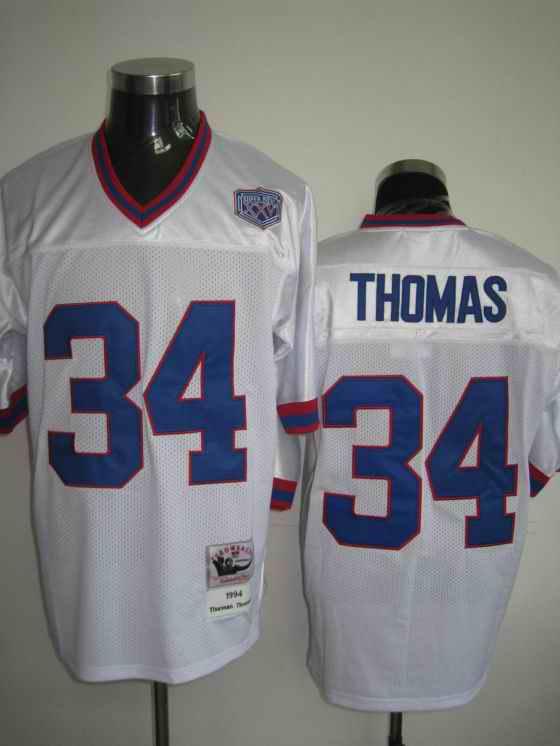 Giants 34 Thomas white jerseys