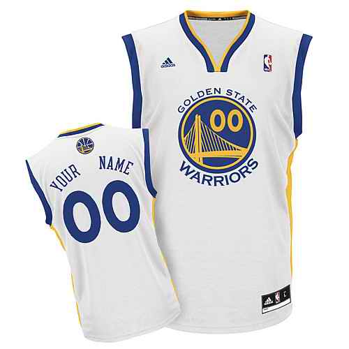 Golden State Warriors Youth Custom white jersey