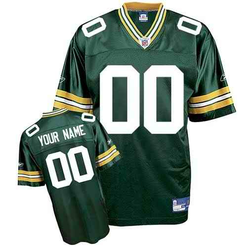 Green Bay Packers Youth Customized green Jersey